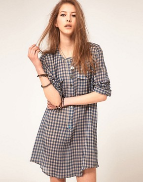 Image 1 ofZadig and Voltaire Shirt Dress in Gingham Check