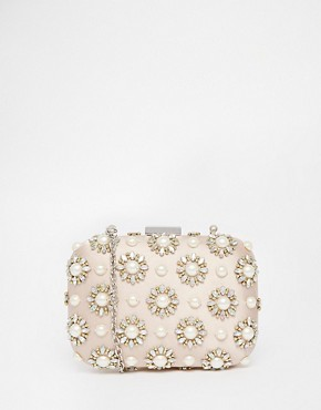ALDO Blush Box Clutch with Pearl Detail