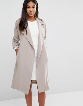 Supertrash Jasa Belt Detail Trench Jacket