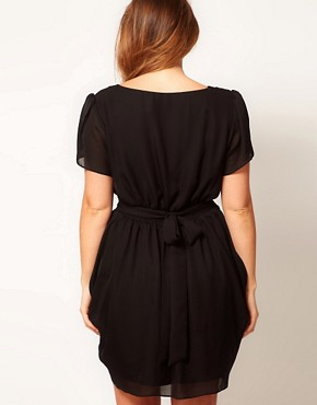 Image 2 ofASOS CURVE Tulip Dress With Tie Waist