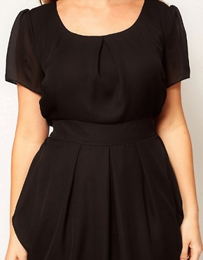 Image 3 ofASOS CURVE Tulip Dress With Tie Waist