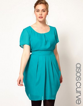 Image 1 ofASOS CURVE Tulip Dress With Tie Waist