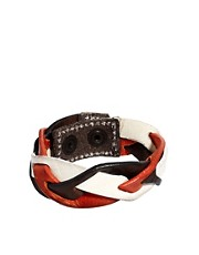 Diesel Abraid Leather Bracelet