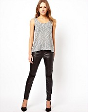 By Zoe Leggings with Faux Leather Panels