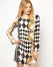 Vila Check Print Dress