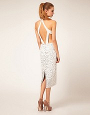 ASOS Embellished Midi Dress with Open Back