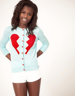 Image 1 ofASOS Broken Heart Cardigan