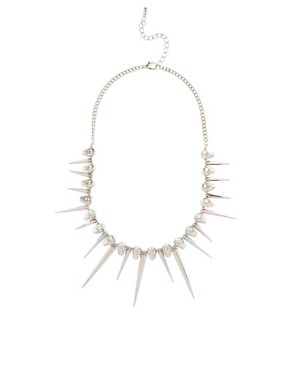Image 2 ofASOS Skull &amp; Dipped Spike Collar Necklace