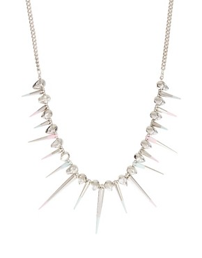 Image 1 ofASOS Skull &amp; Dipped Spike Collar Necklace