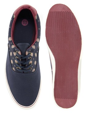 Image 3 ofRiver Island Ditsy Plimsolls