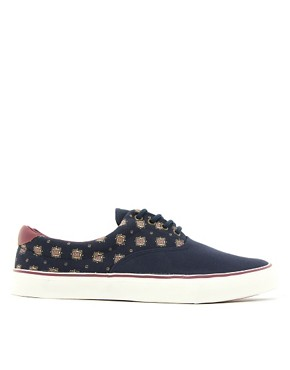 Image 4 ofRiver Island Ditsy Plimsolls
