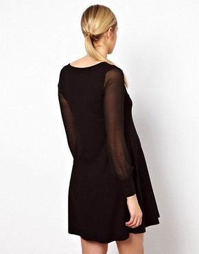 Image 2 ofASOS Maternity Swing Dress With Chiffon Sleeves