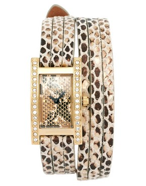Image 1 ofGuess Wrapped Up Snakeskin Watch