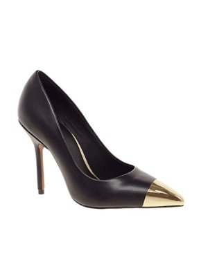 Image 1 ofASOS PLUTO Pointed High Heels with Metal Toe Cap
