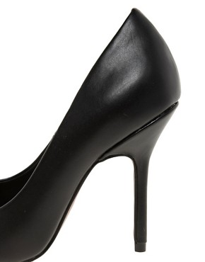 Image 2 ofASOS PLUTO Pointed High Heels with Metal Toe Cap