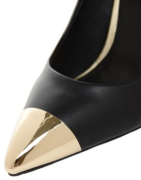 Image 3 ofASOS PLUTO Pointed High Heels with Metal Toe Cap