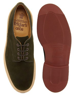 Image 3 ofTrickers Daniel Suede Derby Shoes