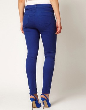 Image 2 ofASOS CURVE Exclusive Skinny Jean in True Blue #4