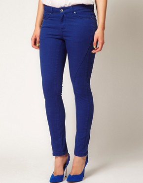 Image 4 ofASOS CURVE Exclusive Skinny Jean in True Blue #4