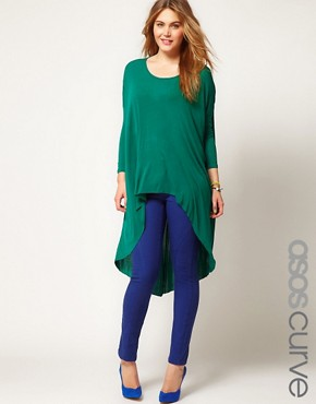 Image 1 ofASOS CURVE Exclusive Skinny Jean in True Blue #4