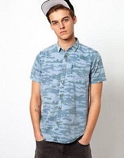 Brave Soul Denim Camo Shirt
