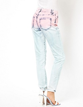 Image 2 ofASOS Skinny Jeans in Ombre Acid Wash