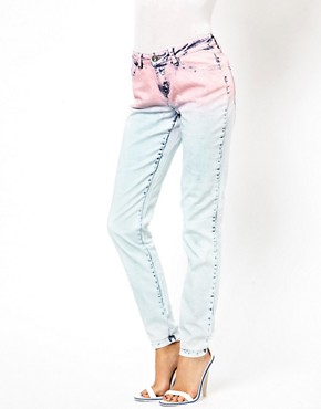 Image 1 ofASOS Skinny Jeans in Ombre Acid Wash