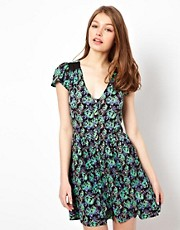 A Wear Printed Tea Dress