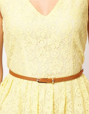Image 3 ofOasis Lace Skater Dress With V-Neck
