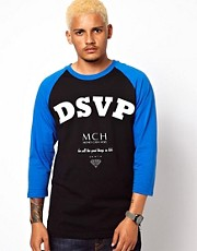 DRMTM T-Shirt 3/4 Sleeve Raglan Money Cash Hoes