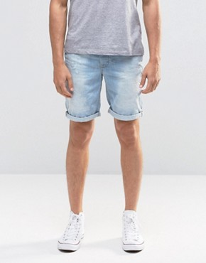 Blend Twister Slim Denim Shorts Distressed