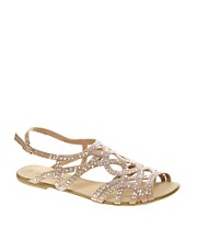 New Look  Fabulous  Flache Sandalen mit Strassverzierung