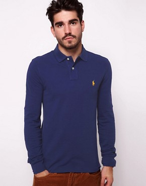 Image 1 ofPolo Ralph Lauren Polo Shirt with Long Sleeves