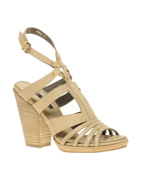 Image 1 ofMiista Pris Strap Chunky Heel Sandal