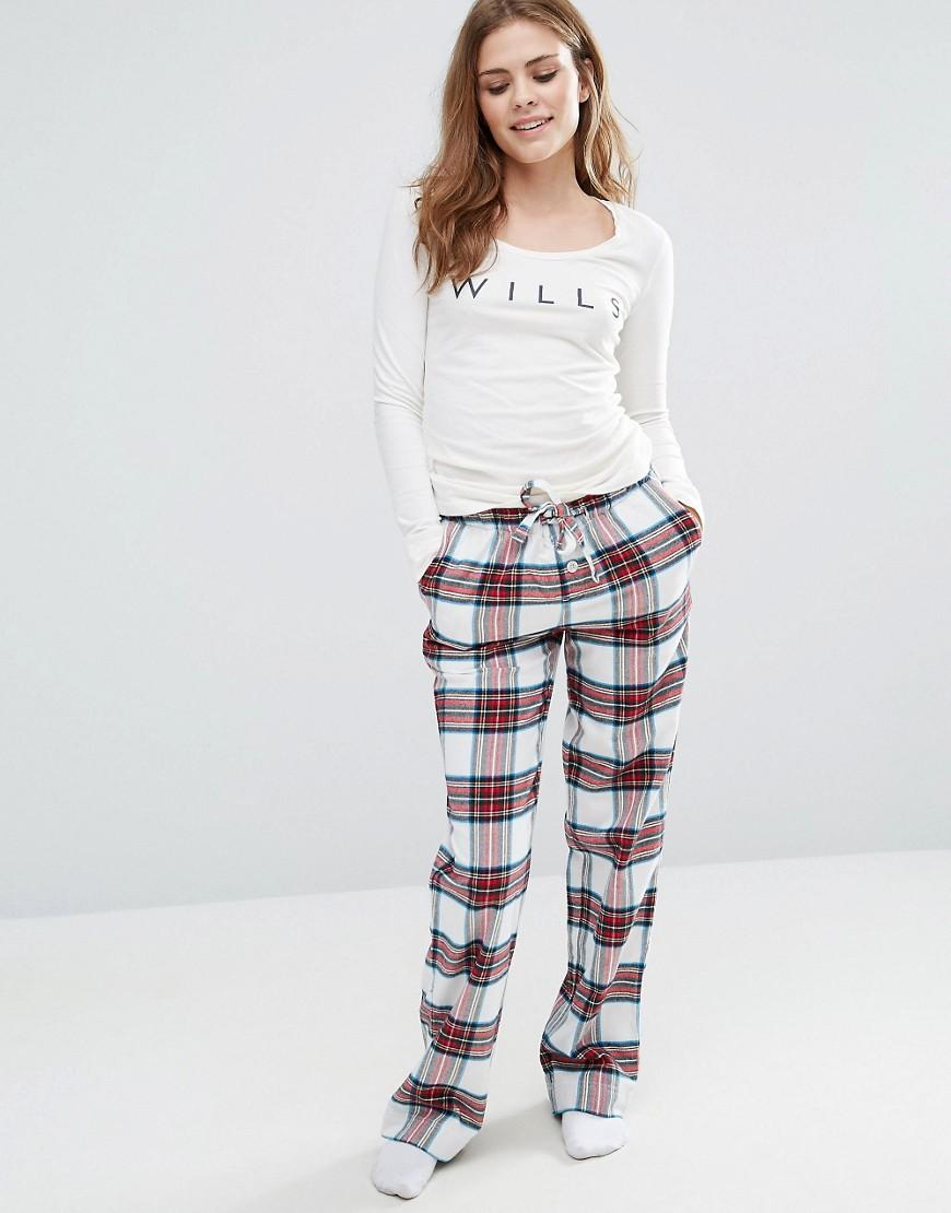 Фланелевые пижамные штаны Jack Wills Christmas - Мульти