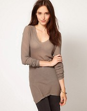 JNBY V Neck Long Sleeve Top