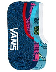 Vans Multi Print 3 Pack No Show Socks