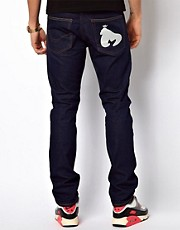 Money Jeans Straight Tapered Fit Selvedge With Reflective Ape