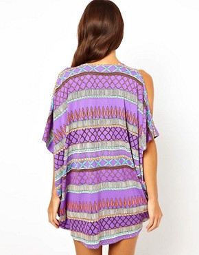 Image 2 ofMara Hoffman Frida Braided Cold Shoulder Poncho