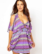 Mara Hoffman Frida Braided Cold Shoulder Poncho