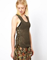 Edun Crochet Tank with Army Issue Straps