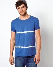 ASOS Stripe T-Shirt With Tie Dye