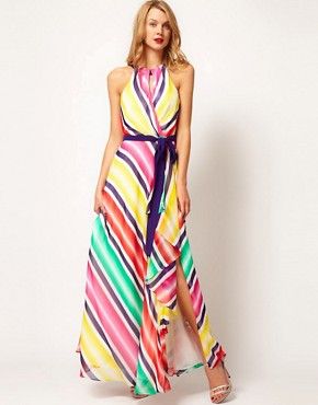 Image 1 ofCoast Stripe Maxi Dress