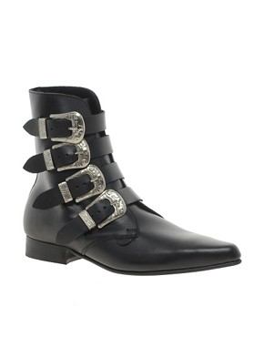 Image 1 ofUnderground Peck 4 Western Buckle Ankle Boots