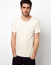 Farah Vintage T-Shirt with Fleck Pattern