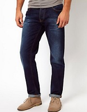 Nudie - Sharp Bengt - Jeans larghi stretti in fondo blu