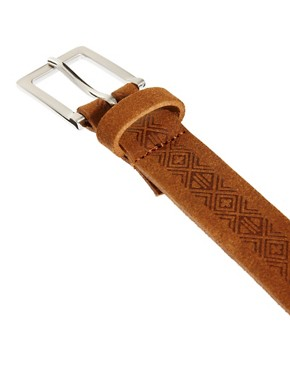 Image 2 ofASOS Leather Aztec Emboss Chino Belt