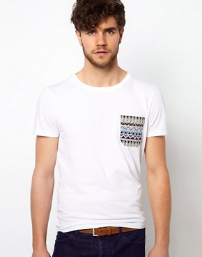 Image 3 ofASOS Leather Aztec Emboss Chino Belt
