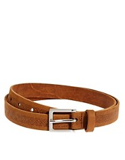 ASOS Leather Aztec Emboss Chino Belt