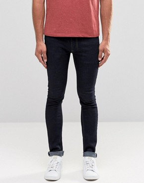 Religion Skinny Fit Hero Jeans in Dark Blue